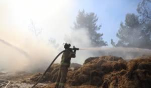 במהלך השבת התחדשה האש בצור הדסה