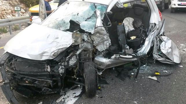 זירת התאונה ביובלים