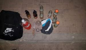 2 פלסטינים נתפסו עם 9 בקבוקי תבערה
