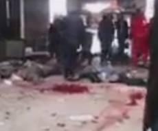 זירת הפיגוע המדממת - עשרות הרוגים בפיגוע תופת במרכז דמשק