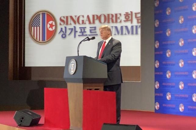 טראמפ, במסיבת העיתונאים