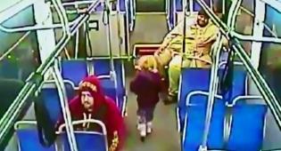 אנאבל ווים בת ה-4 באוטובוס לבדה