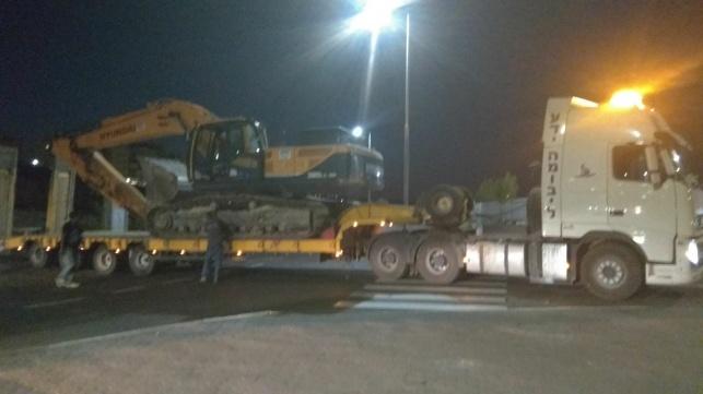 שוב משאית מנוף פגעה בגשר ביישוב אפרת