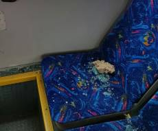 מחבל יידה סלע על אוטובוס; אשה נפצעה