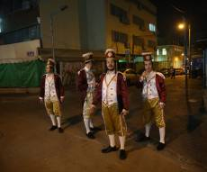 חגיגות פורים ברחובות העיר בני ברק. תיעוד