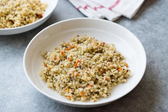 אורז עם בורגול וגזר