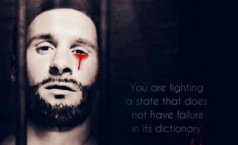 דאעש מאיים: ליונל מסי מדמם במדי אסיר