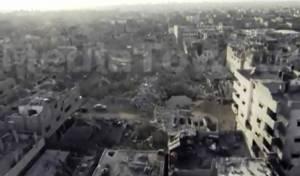 צפו: ההרס בסג'עייה - מהאוויר