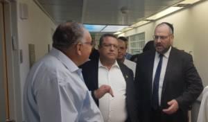 ראש העיר וממלא מקומו בסיור בהדסה עם פרופ' רוטשטיין