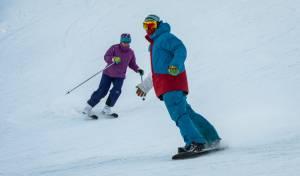 כמעט כמו באלפים: סקי בחרמון המושלג