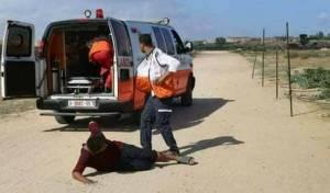 טיפול בפצוע פלסטיני