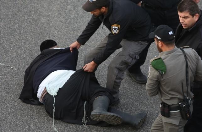 מעצר אלים בהפגנה אתמול