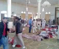 """זירת הטבח במסגד - 305 הרוגים ו-128 פצועים בפיגוע רצחני של דאע""""ש סיני"""