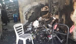 החנות בערד שנשרפה