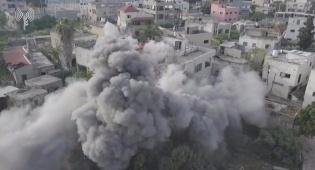 """כך צה""""ל הרס את בית המחבל מאריאל. צפו"""