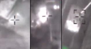 """בווידאו: התקיפה הישראלית - 10 פצמ""""רים זלגו, חיל האוויר השמיד טנקים"""
