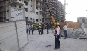 בית שמש: פיגומים קרסו; 5 פועלים נפצעו