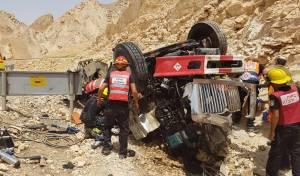 """שני חיילי צה""""ל נהרגו בהתהפכות המשאית"""