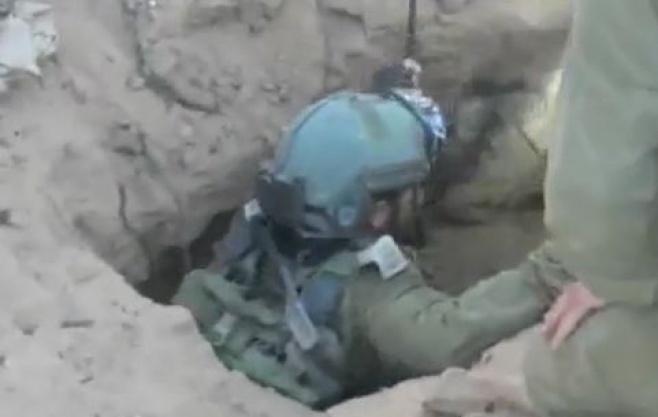צפו: הצנחנים חושפים מנהרת טרור