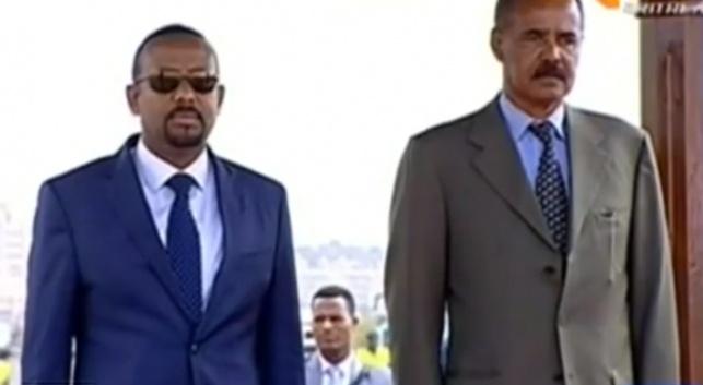 שני המנהיגים בקבלת הפנים