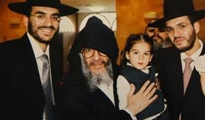 הרב אבוחצירא עם בני משפחתו