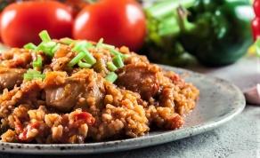 ג'מבליה. תבשיל אורז עם עוף וירקות מניו אורלינס
