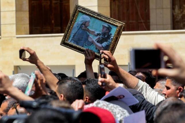 הפגנת פלסטינים למען האסירים
