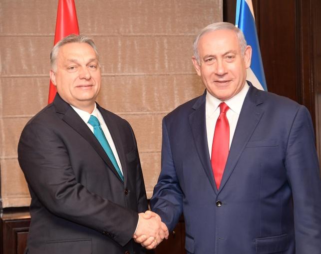 נתניהו עם ראש ממשלת הונגריה
