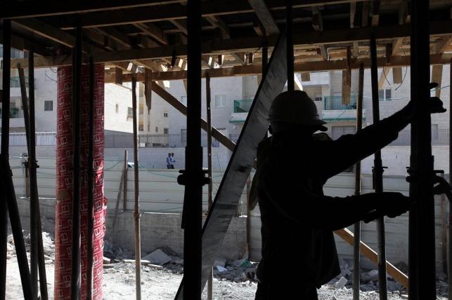 פועל בנין פלסטיני. אילוסטרציה