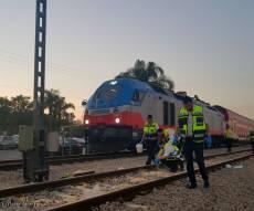 """זירת האסון - נערה נהרגה מפגיעת רכבת ליד כפר חב""""ד"""