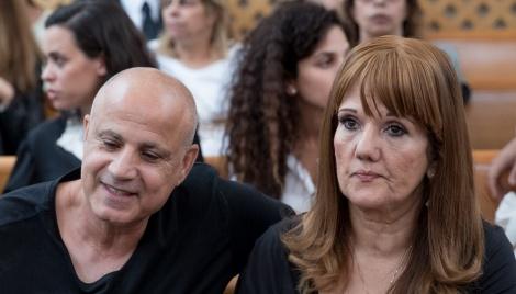הזוג נגר בבית המשפט לפני כמה חודשים