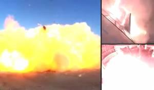המשגר לחלל של SpaceX נחת - והתפוצץ