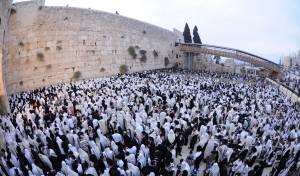 הילולת החפץ חיים:  אלפים התפללו בכותל • צפו