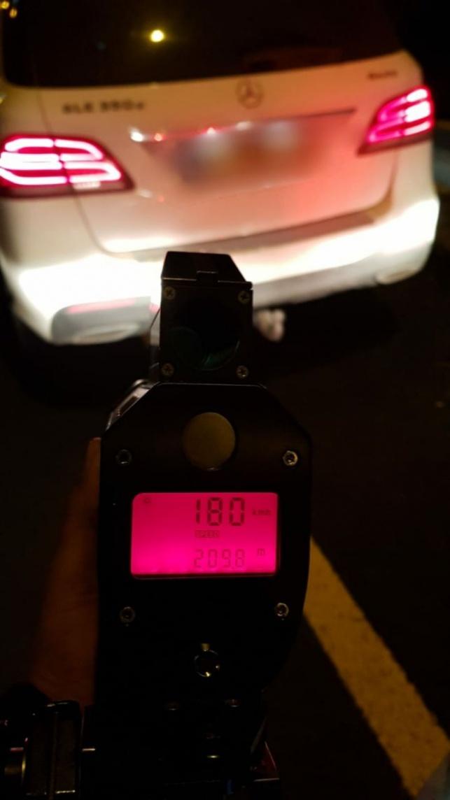 הנהג הצעיר נתפס נוהג פי 2 מהמותר בחוק