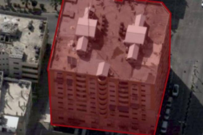 """צפו:  כך צה""""ל 'הוריד' מבנה רב קומות בעזה"""
