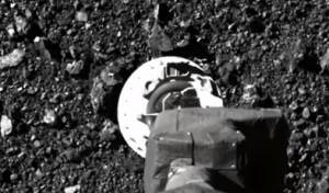 תיעוד: גשושית אוספת דגימות מאסטרואיד