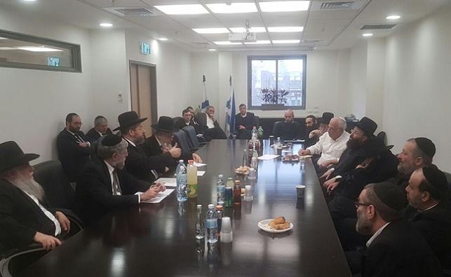 פגישת הרבנים והפוליטיקאים, הצהריים