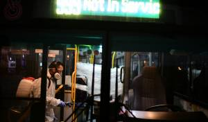 חיטוי אוטובוס אחרי נסיעת חולה