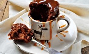 עוגת שוקולד ב-2 דקות