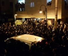 חלק מקהל הרבבות - המונים בהלויית הגאון רבי יעקב אדלשטיין זכר צדיק לברכה