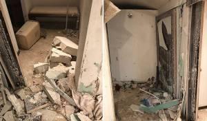 """דוד מים התפוצץ וזרע הרס בבית חב""""ד. צפו"""