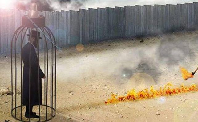 הפוטושופ המחריד של דאעש: חרדי עולה באש