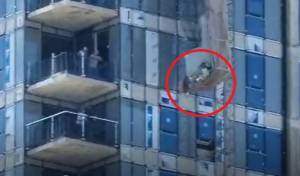 מפחיד: המעלית קרסה - אדם נפל 41 קומות