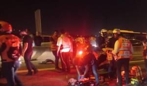 מזירת התאונה בכביש 471