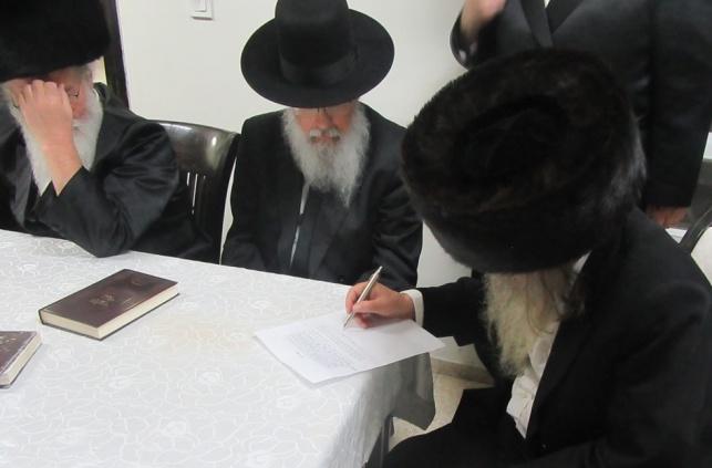 הרבנים חותמים על המכתב