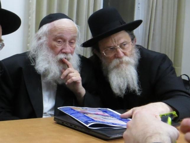 הדיינים רבי יהודה סילמן ורבי שריאל רוזנברג
