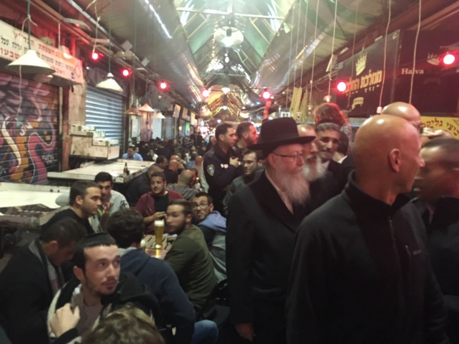 ליצמן בביקור פתע בשוק מחנה יהודה