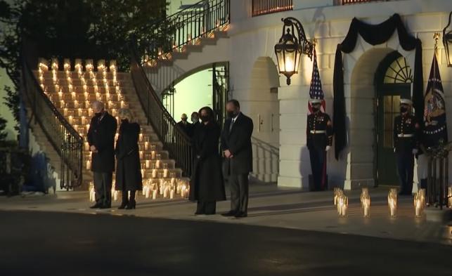 הנשיא וסגנית הנשיא בדקה דומייה, הלילה