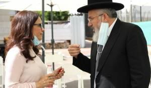 הרב ציון כהן עם ראש העיר