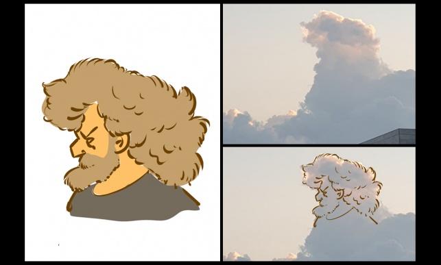 """הציור של אוריאל פלד שהפך ל""""אתגר הענן"""""""